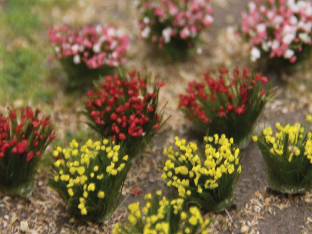 Detachable Red Pink Yellow Flower Bushes Sceneryproducts